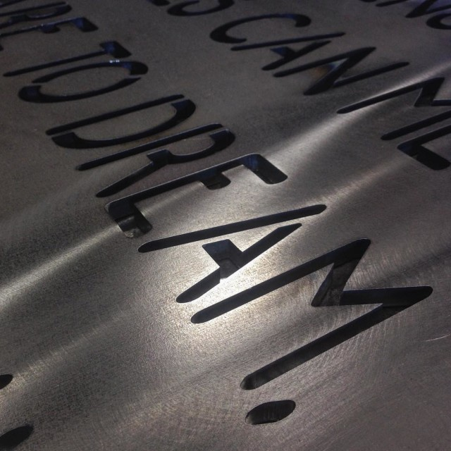 A glimpse of a plasma cut Living Legacy statement fromhellip